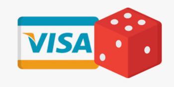 Visa-logo og rød terning.